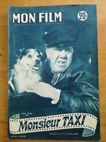 MON FILM N°331 1952 Monsieur taxi - Michel Simon dos Marylin Monroe