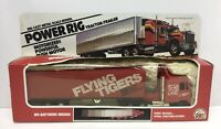 Power Rig Tractor-Trailer Die-cast Metal Flying Tigers Semi Truck 1982 Zee Toys