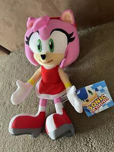 Genuine Sega Sonic The Hedgehog - Amy Rose Plush - 30cm - Soft Toy Licensed BNWT