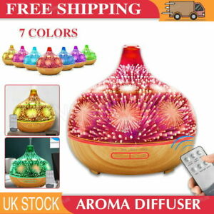 3D Firework Air Diffuser LED Ultrasonic Essential Oil Purifier Humidifiers HOT
