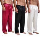 Mens Silk Satin Pajamas Pyjamas Pants Sleep Bottoms Free p&p S~4XL Plus
