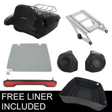 King Pack Trunk Backrest Speaker TailLight For Harley Tour Pak Road Glide 14-20
