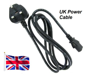 UK TYPE 6FT 3Prong AC Power Cord 18AWG for Computer Printer Monitor TV Free Ship