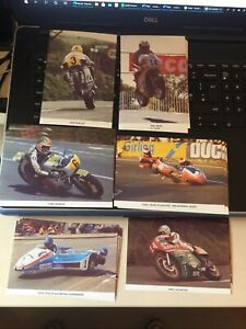 6 Isle Of Man TT Historic Postcards,Dunlop Hailwood.Etc. Only 3000 Made 35p each