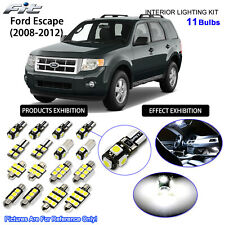11 Bulbs LED Interior Light Kit Xenon White For Ford Escape 2008-2012 (Sunroof)