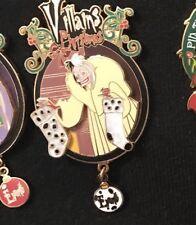 Pin Trading Évent Villains Christmas Cruella D'enfer Disney Paris 101 Dalmatiens