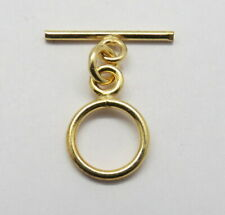 2 Piece Toggles Hook 22K Gold Clasp Toggle 10mm Round Bali Jewelry Supplies
