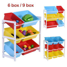 Organizer Kids Children Storage Toy Box Playroom Bedroom Shelf Drawer US