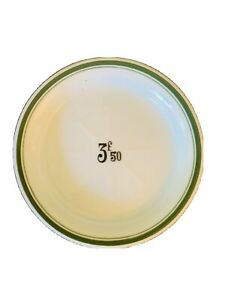 French vintage Bistro Porcelain Tip Change Absinthe Tray Plate dish Green 3f50