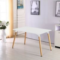 Halo White Dining Table Retro Design DA DS White Wood Legs Office Lounge Room