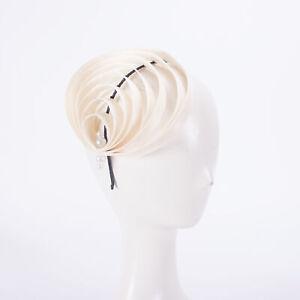 Women Kentucky Derby Sinamay Fascinator Wedding Church Racing Hat Headpiece T447