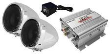 """NEW! Pyle PLMCA20 3"""" Weatherproof Bike & Motorcycle Handlebar speakers w/ Amp"""