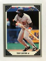 1991 Leaf Preview TONY GWYNN Padres Baseball Card #11 from Donruss Factory Set
