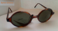 New 1980's Vintage  Brown Round Sunglasses - Deadstock - Unisex