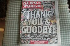 News of the World (last edition) 10 July 2011