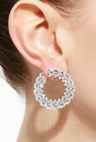 Cocktai Solid 925 Sterling Silver Marquise Round Dangle Earrings Women Gift*