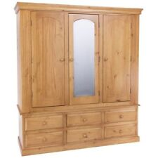 Pine Wardrobes with Mirrors and 3 Doors