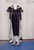Music Notes Sequin Bodice Long Sleeve Dress Costume Theater Halloween*SHIPS FREE