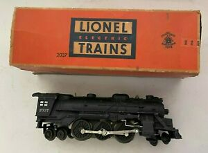 Vintage Postwar LIONEL 2037 Steam Locomotive 2-4-4 O Gauge w/ Box- Needs Repair!