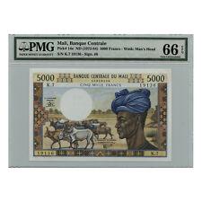 *jcr_m*MALI BANQUE CENTRALE 5000 FRANCS (1972-84) P.14E PMG MS-66 *UNCIRCULATED*