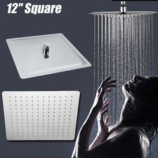 12'' Square Stainless Steel Shower Head Rainfall Bathroom Top Spa Sprayer New
