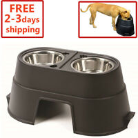 OurPets Comfort Feeder Healthy Pet Diner Raised Dog Bowls Elevated Double New