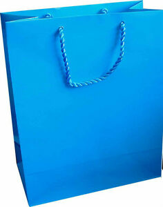 10 x Gloss Laminate Large Gift Bag - A4 Sky