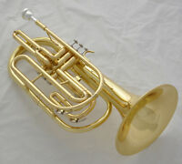 Professional Gold Marching Trombone B-Flat Monel Valve Brand New With Case
