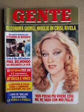 GENTE n°19 1983 Eleonora Giorgi Stefania di Monaco Paul Belmondo [G740]