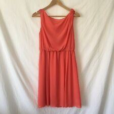 WOMENS Size 10 Portmans Floaty Dress Orange Summer Wedding Guest Christmas