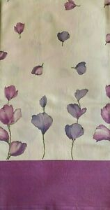 Italian 100% Cotton Tablecloth - Purple & White Flower Design - 162 cm x 152 cm