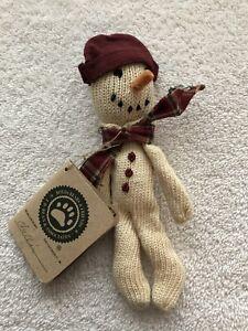 Boyds Bears & Friends Sock Snowman Chillin Shelf Sitter or Ornament