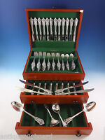 Grande Baroque By Wallace Sterling Silver Flatware For 24 Set 100 Pieces