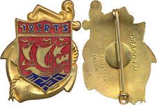 12° Régiment de Tirailleurs Sénégalais, caravelle, dos lisse plat, D.Ber.Dép.
