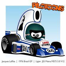 Print on Canvas Ligier Matra JS5 1976 #26 Jacques Laffite Brazilian GP by BM