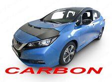 CARBON LOOK CAR HOOD BRA fit NISSAN LEAF since 2017 NOSE FRONT END MASK