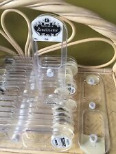8 Vintage Acrylic RibbonSpools Flat Display Empty for Crafting chain cord ribbon