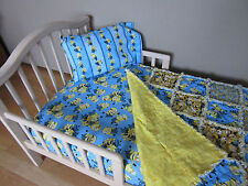 Toddler Bed MINIONS DESPICABLE ME Fabric Crib Set Large Rag Quilt Sheet & Case