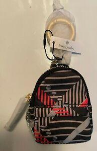 Vera Bradley Sofia Plaid Micro Backpack Bag Charm Keychain Fob Coin Purse- NWT
