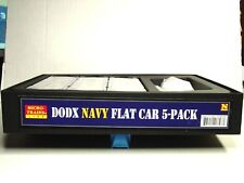 MICRO-TRAINS LINE N SCALE DODX NAVY FLAT CAR 5-PACK WITH LOAD 99301640