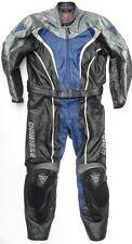 Top DAINESE Defender Gr. 50 Zweiteiler Lederkombi schwarz blau Leather Suit