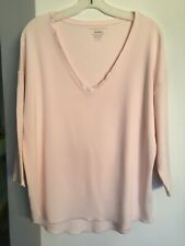 MAJESTIC PARIS NEIMAN MARCUS French Touch Soft Blush Jersey Pullover Shirt 5