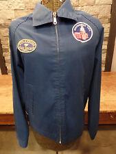 Vintage Jacket Gulf Jac Patches Strasburg Railroad Apollo II Ayrshire Coal Sz S