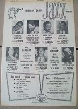 Norman Granz Jazz on Mercury 1952 Ad- Charlie Parker Oscar Peterson Roy Eldridge