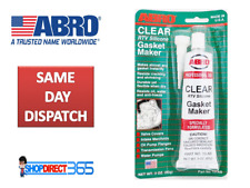 ABRO RTV SILICONE INSTANT GASKET MAKER CLEAR HIGH TEMP SEALANT 85G TUBE 13ABi