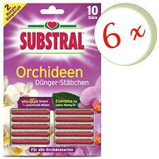 Oleanderhof Sparset: 6 X Scotts Substral Engrais Bâtonnets de Orchidées, 10 Stue