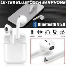 LK-TE8 earphones Binaurali Bluetooth 5.0 Smart Auricolari airpods ricarica Qi