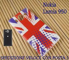 Cover case custodia GEL in gomma silicone Nokia Lumia 950 BANDIERA INGLESE