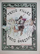 1899 Mariani Conte Trois filles et trois garçons Louis Morin 1/500 bibliophilie