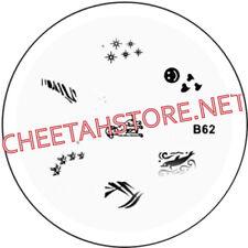 Stamping plaque pochoir B62 pour vernis Konad nail art